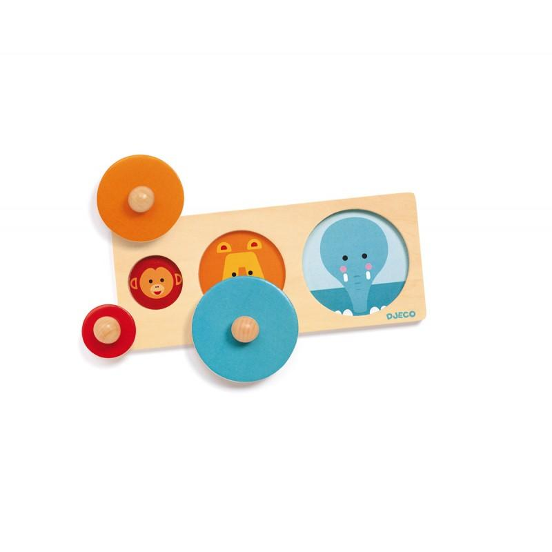 Djeco Bigabasic Wooden Circle Puzzle Djeco Puzzles at Little Earth Nest Eco Shop