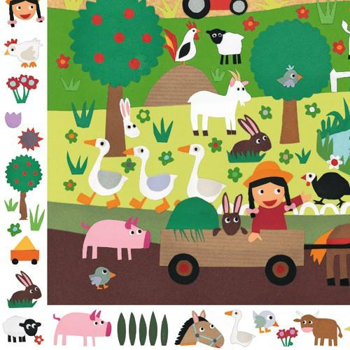 Djeco Farm Observation Puzzle 35 Piece Djeco Puzzles at Little Earth Nest Eco Shop