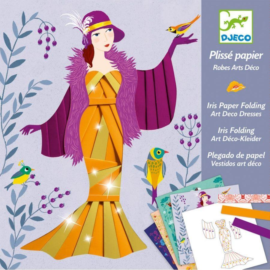 Paper Dress Creations - Iris Paper Folding by Djeco Djeco Art and Craft Kits at Little Earth Nest Eco Shop