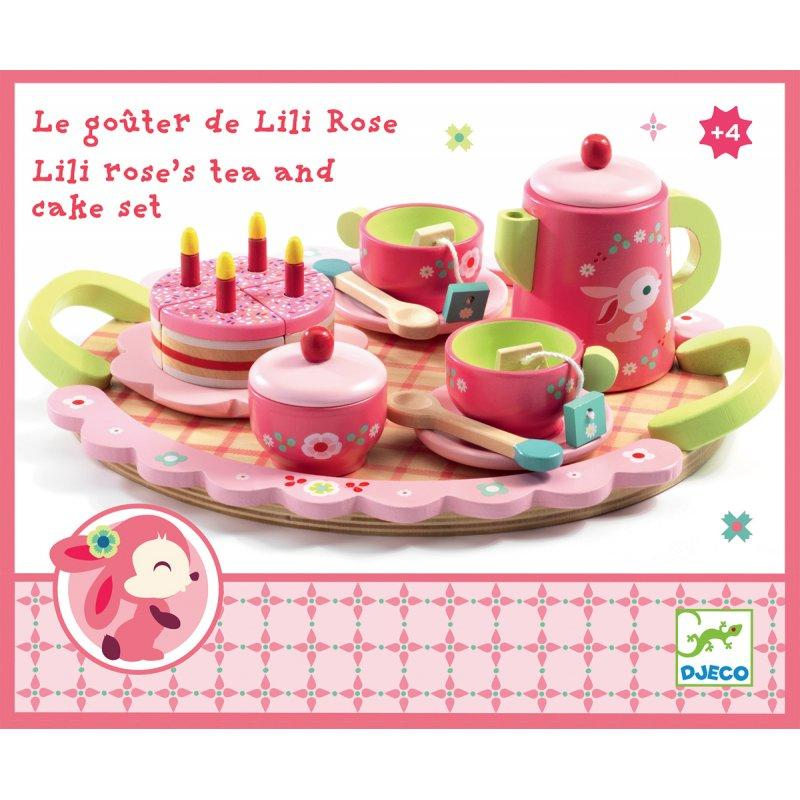Lili Rose Tea and Cake Set by Djeco Djeco Pretend Play at Little Earth Nest Eco Shop