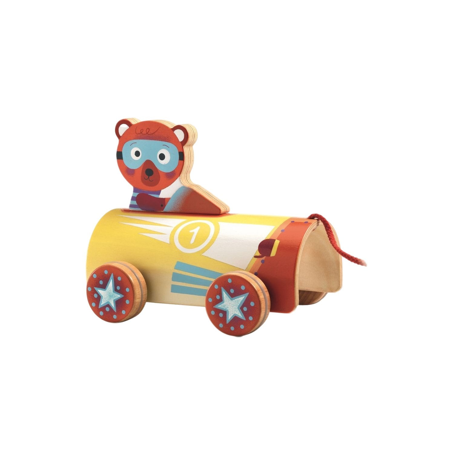 Djeco Pull Along Toy Roli Lewis Djeco Push and Pull Toys at Little Earth Nest Eco Shop