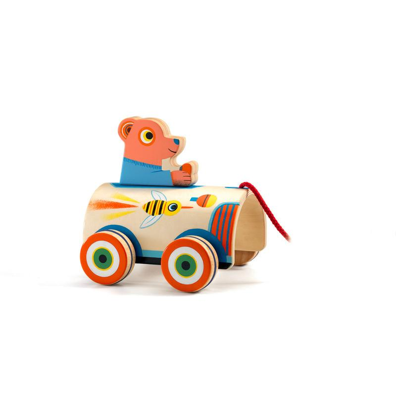 Djeco Pull Along Toy Roli Max Djeco Push and Pull Toys at Little Earth Nest Eco Shop
