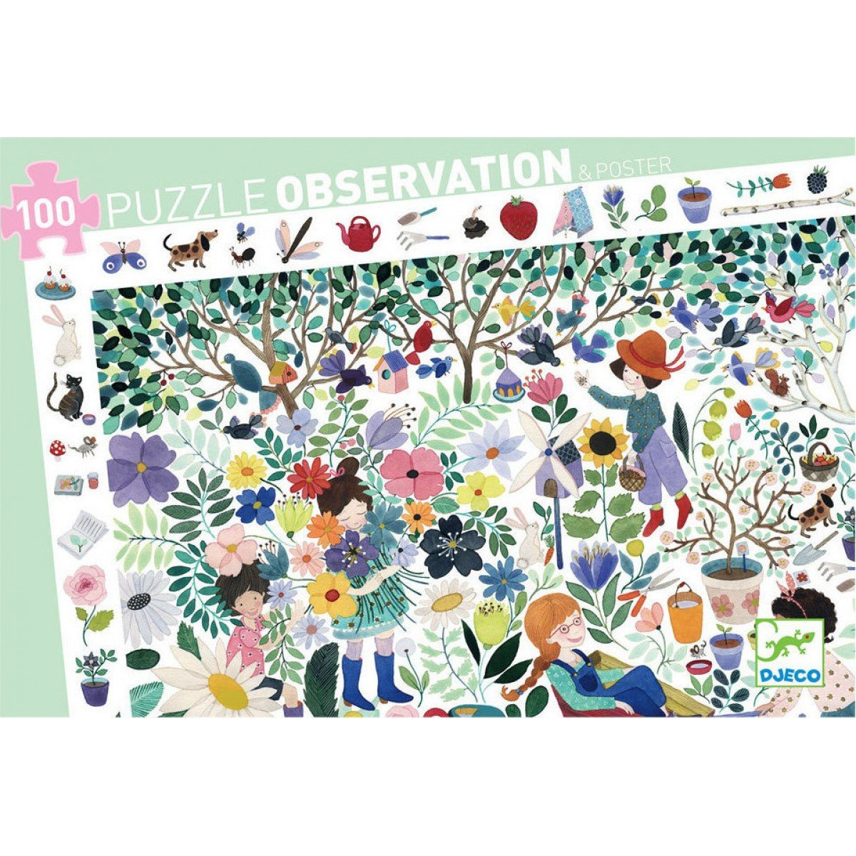 Djeco Thousand Flowers Observation Puzzle Djeco Puzzles at Little Earth Nest Eco Shop