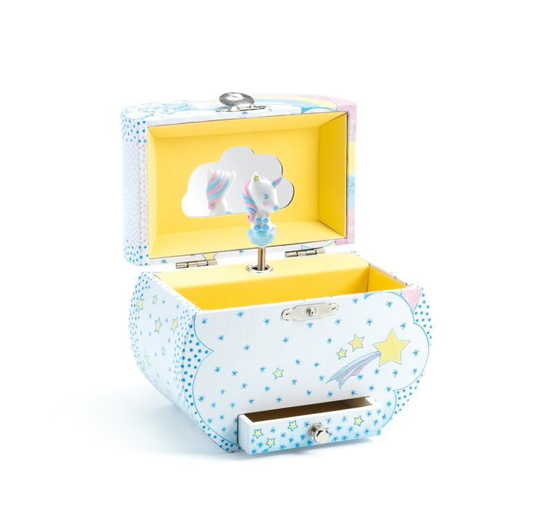Djeco Unicorn Music Box Djeco Musical Toys at Little Earth Nest Eco Shop
