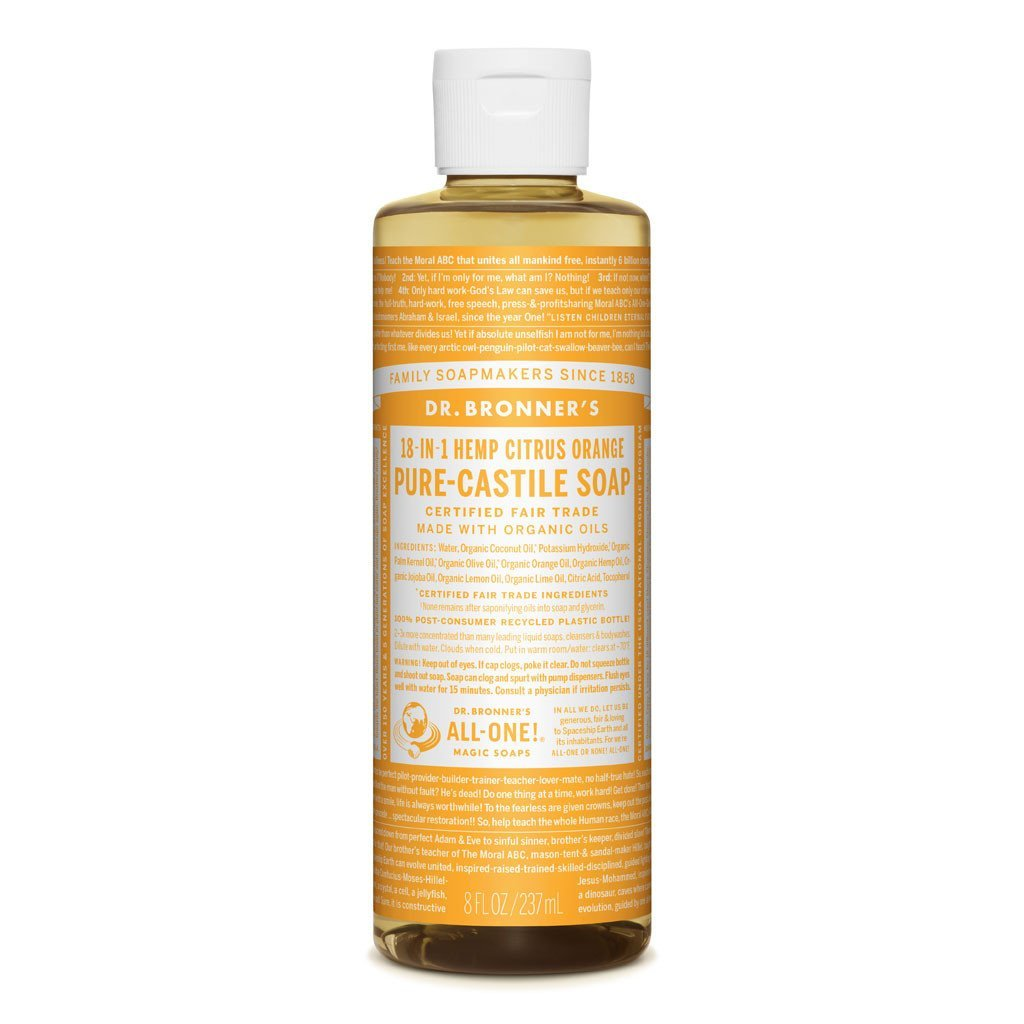 Dr Bronners Castille Soap Citrus Dr Bronners Bath and Body 237ml 8oz at Little Earth Nest Eco Shop