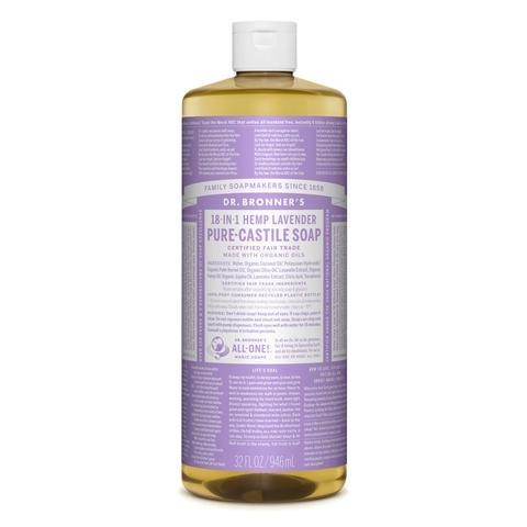 Dr Bronners Castille Soap Lavender Dr Bronners Bath and Body 946ml 32oz at Little Earth Nest Eco Shop