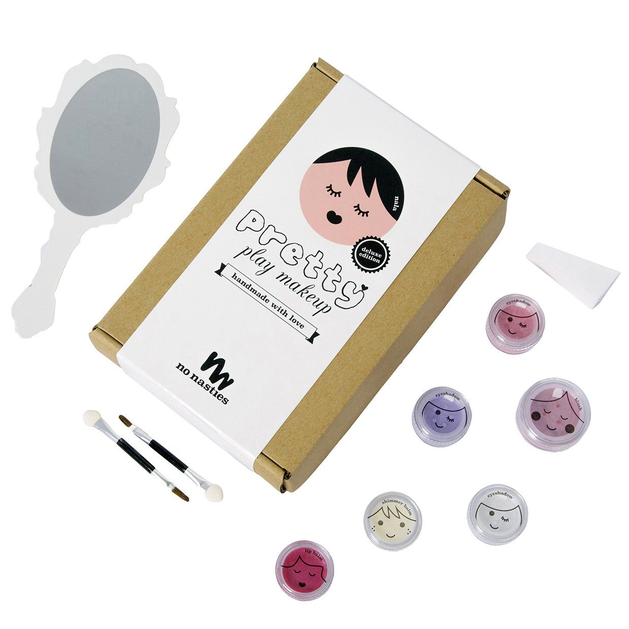 No Nasties Natural Play Make Up No Nasties Play Make Up Deluxe Pack / Pink at Little Earth Nest Eco Shop