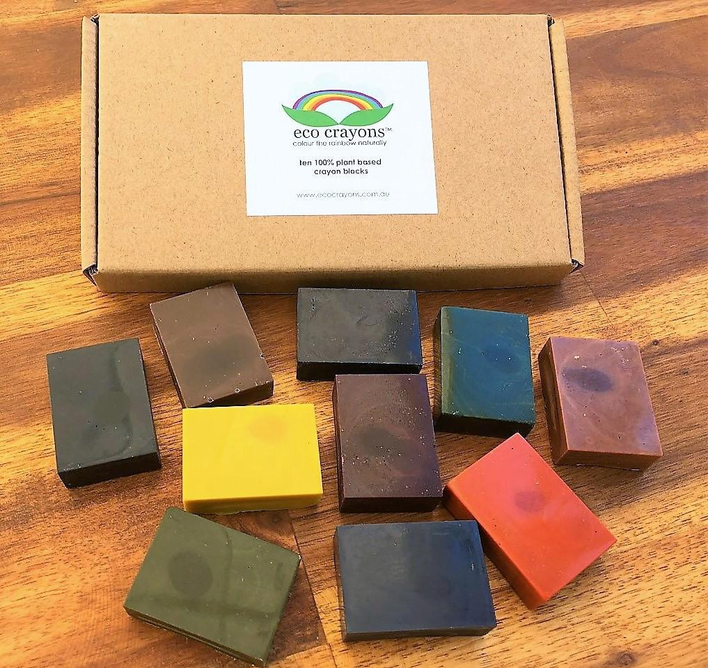 Eco Crayons Box of 10 Eco Crayons Crayons at Little Earth Nest Eco Shop