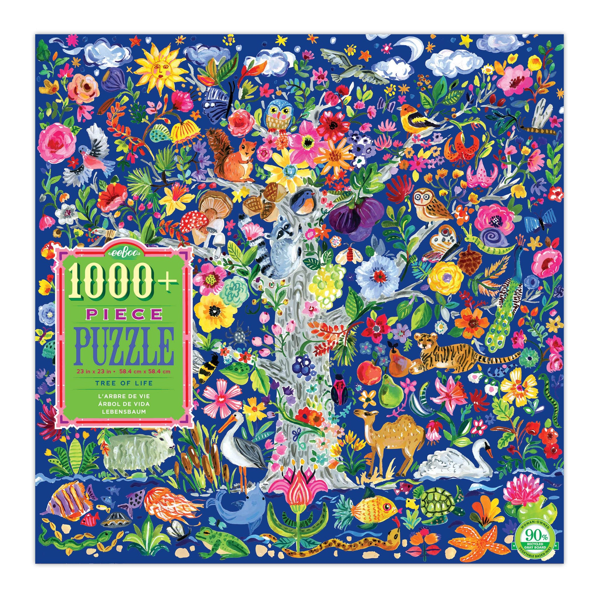 Tree of Life 1008 Piece Puzzle Eeboo Puzzles at Little Earth Nest Eco Shop