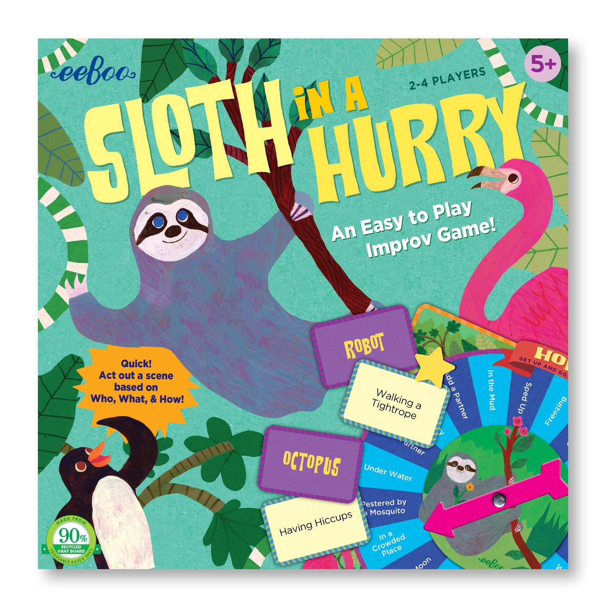 Sloth in a Hurry Game Eeboo Games at Little Earth Nest Eco Shop