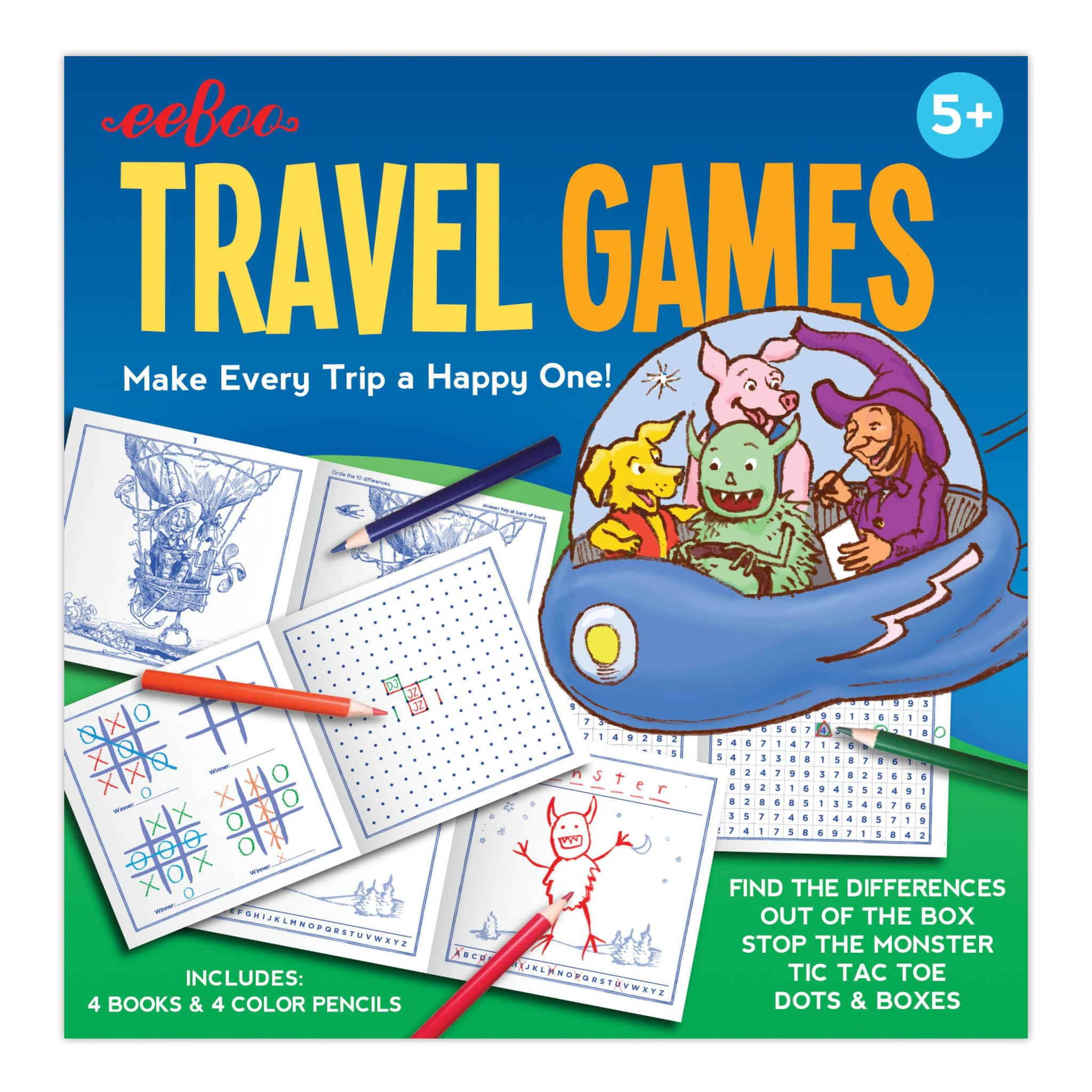 Travel Games Set by Eeboo Eeboo Games at Little Earth Nest Eco Shop