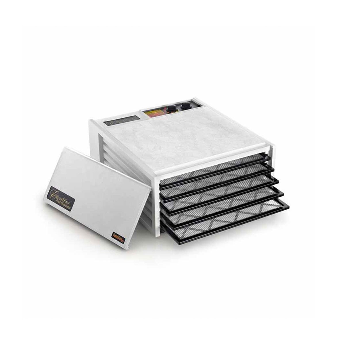 Excalibur Dehydrator 5 Tray in White or Black  White / Yes Timer - Excalibur Australia - Little Earth Nest - 2