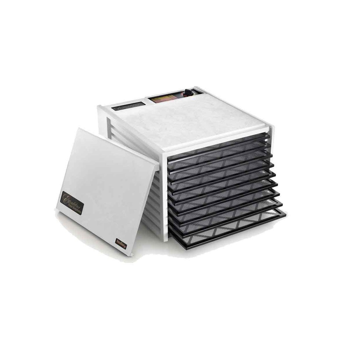 Excalibur Dehydrator 9 Tray in Black or White Excalibur Australia Food Dehydrators White / Yes Timer at Little Earth Nest Eco Shop