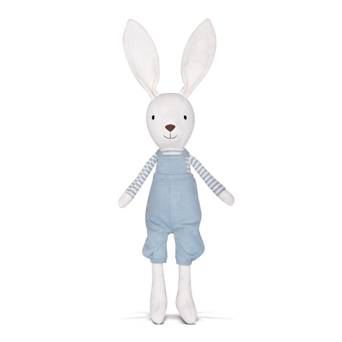 Apple Park Organic Cotton Knit Bunny Apple Park Organic Soft Toy at Little Earth Nest Eco Shop