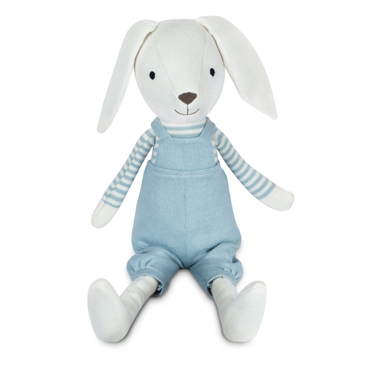 Apple Park Organic Cotton Knit Bunny Apple Park Organic Soft Toy Finn at Little Earth Nest Eco Shop