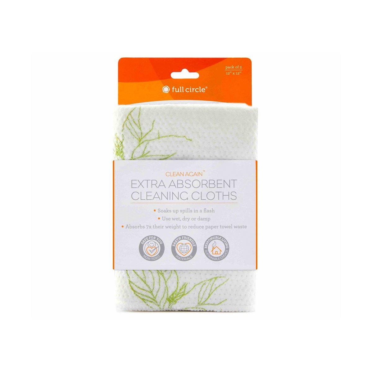 Full Circle Clean Again Super Absorbent Cloth Full Circle Household Cleaning Supplies at Little Earth Nest Eco Shop
