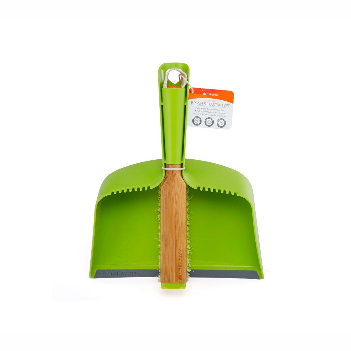 Full Circle Clean Team Dustpan and Brush Set Full Circle Household Cleaning Supplies at Little Earth Nest Eco Shop