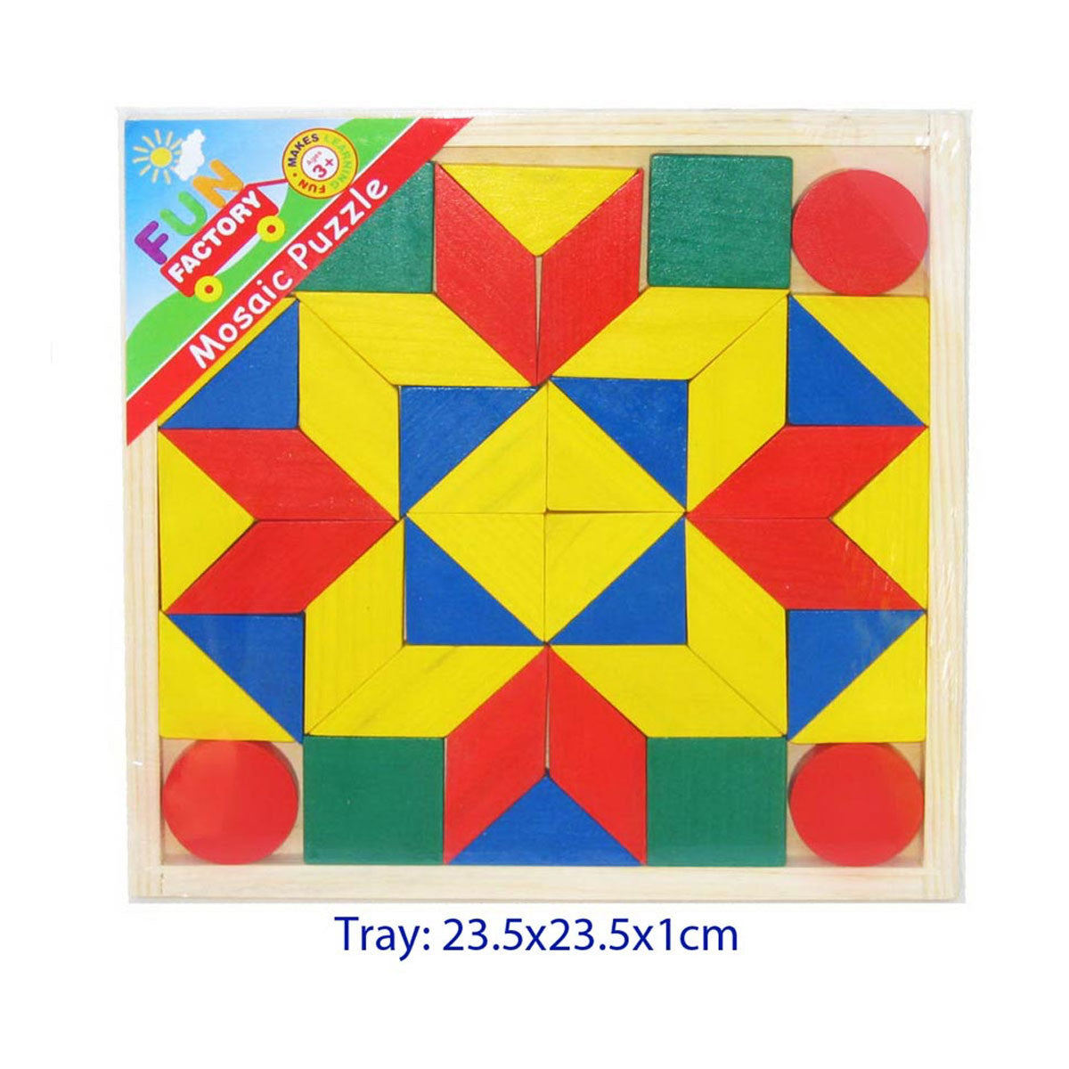 Simple Mosaic Puzzle Fun Factory Puzzles at Little Earth Nest Eco Shop