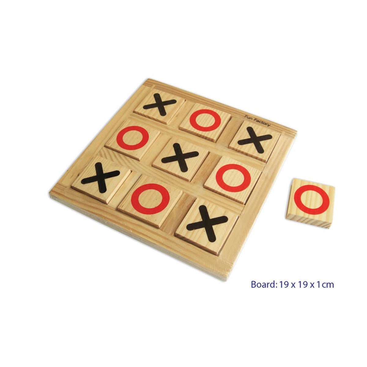 Wooden Noughts and Crosses Board Game Fun Factory Games at Little Earth Nest Eco Shop