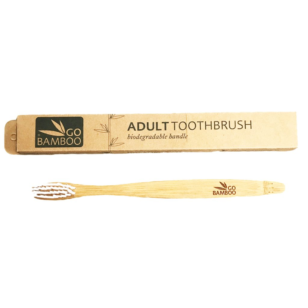 Go Bamboo The Environmental Toothbrush Go Bamboo Toothbrushes Adult at Little Earth Nest Eco Shop