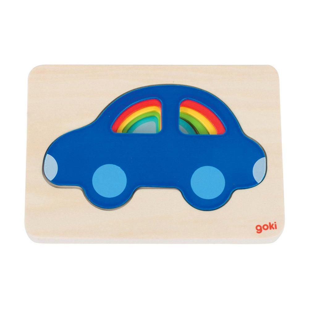 Goki 5 Layer Car Puzzle Goki Puzzles at Little Earth Nest Eco Shop