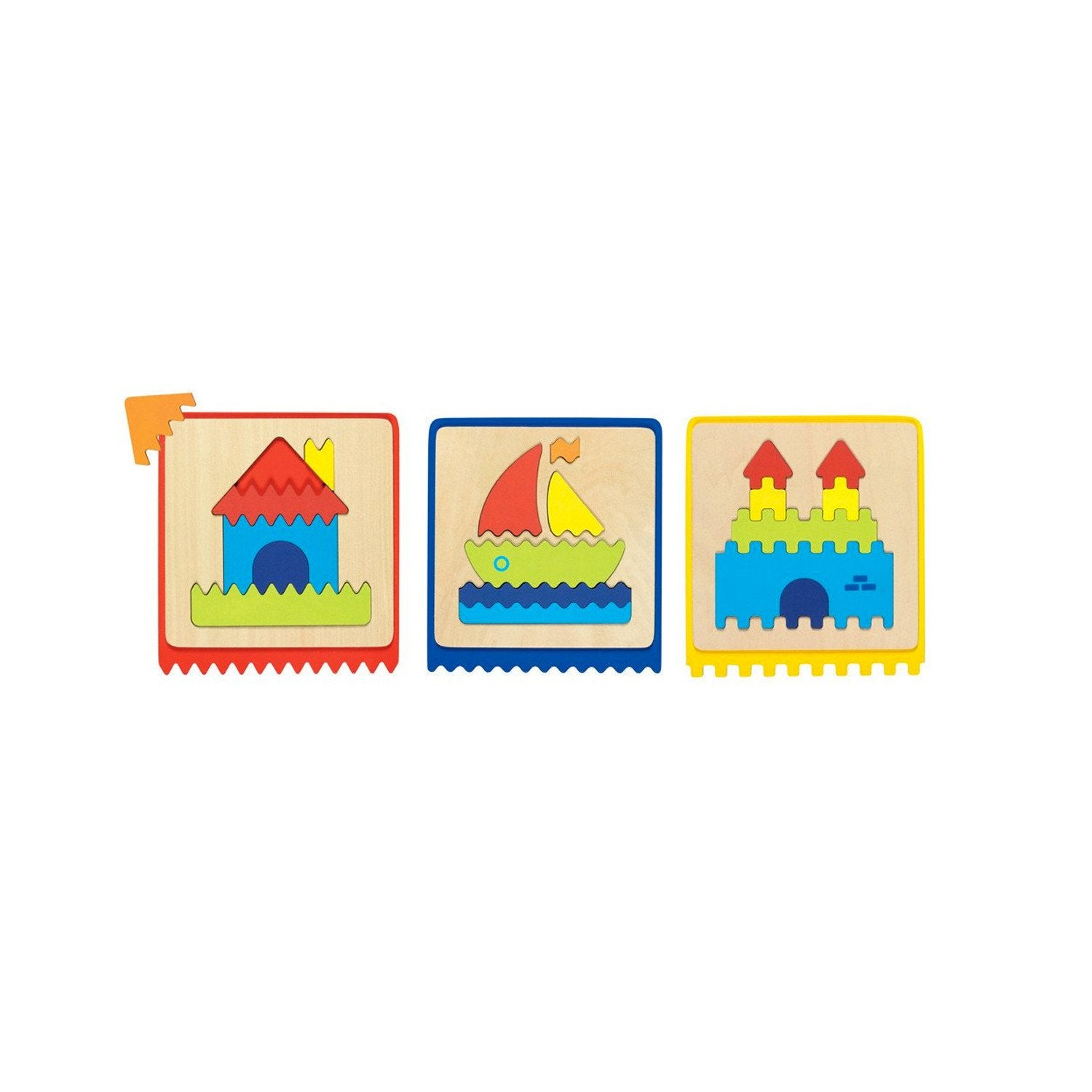 Goki Touch Puzzles Set of 3 Goki Puzzles at Little Earth Nest Eco Shop
