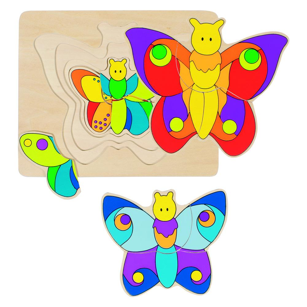 Goki 4 Layer Butterfly Puzzle Goki Puzzles at Little Earth Nest Eco Shop