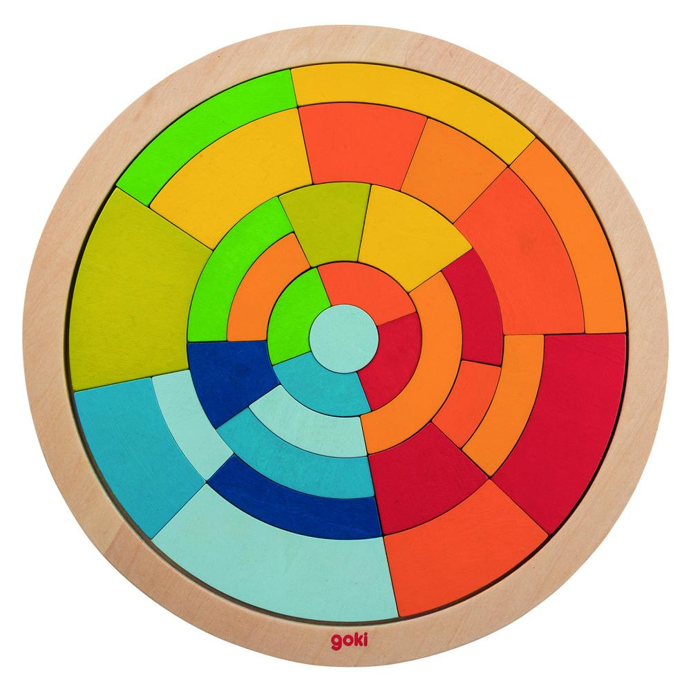 Goki Colourful Circle Puzzle Goki Puzzles at Little Earth Nest Eco Shop
