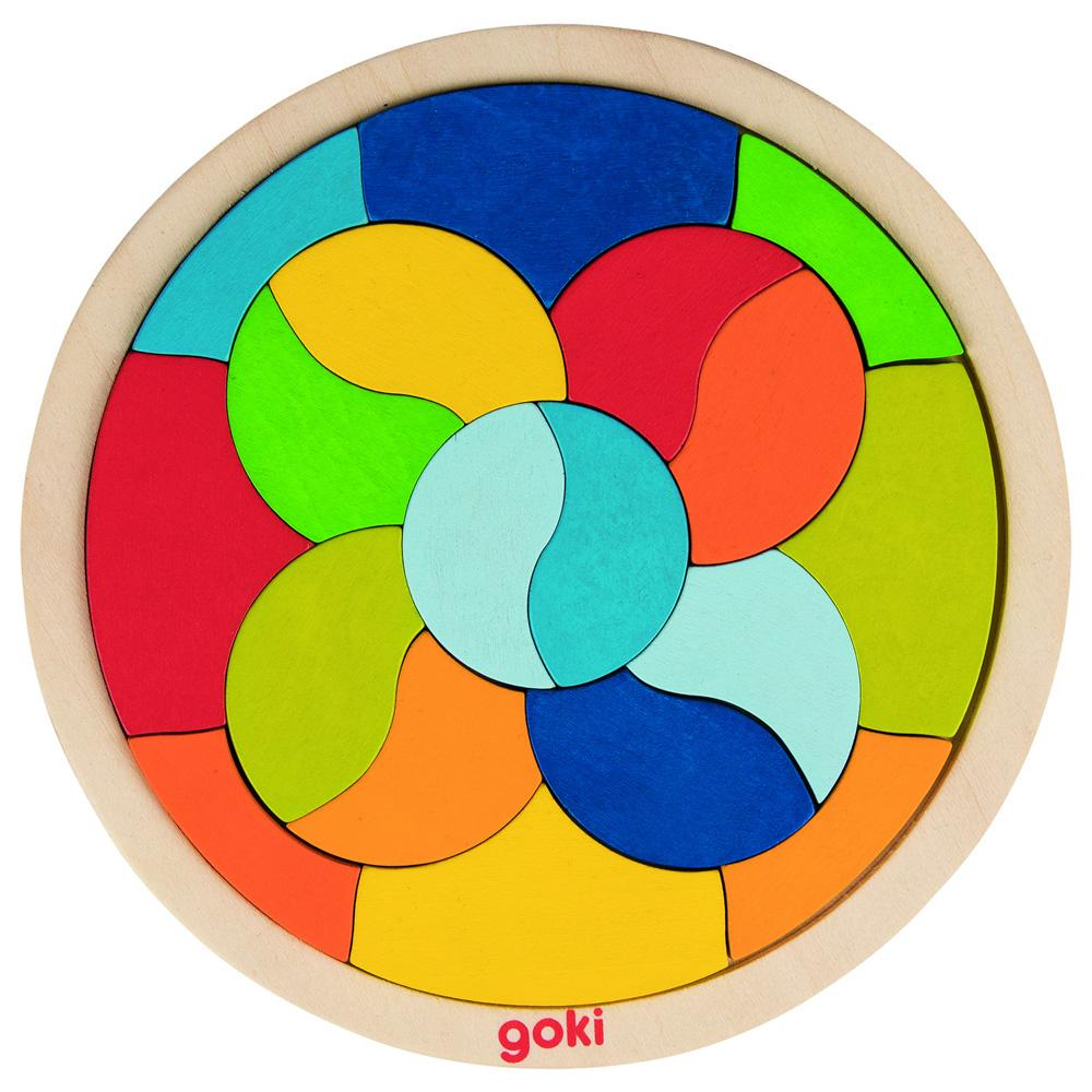 Goki Mandala Circle Puzzle Goki Puzzles at Little Earth Nest Eco Shop