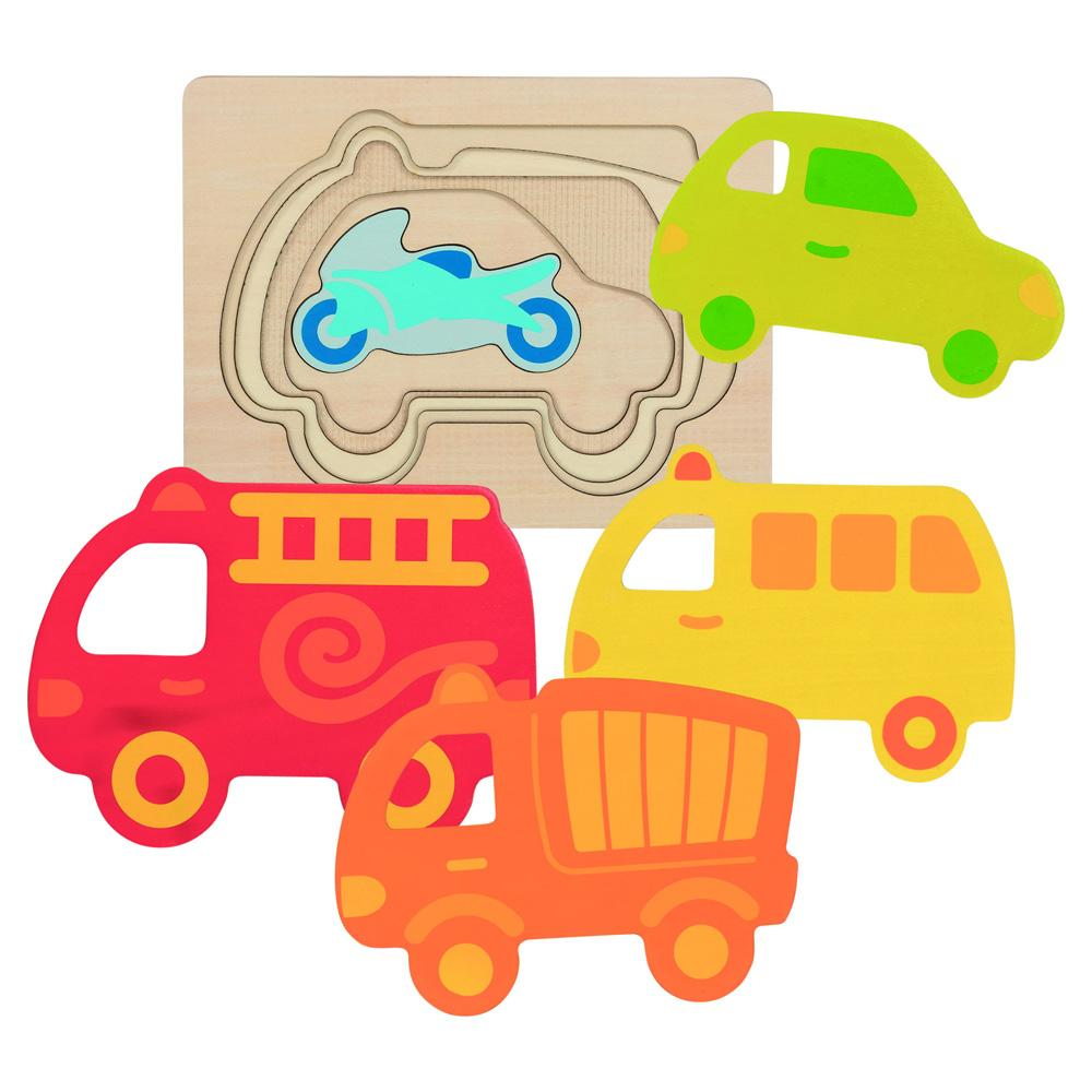 Goki 5 Layer Vehicles Puzzle Goki Puzzles at Little Earth Nest Eco Shop