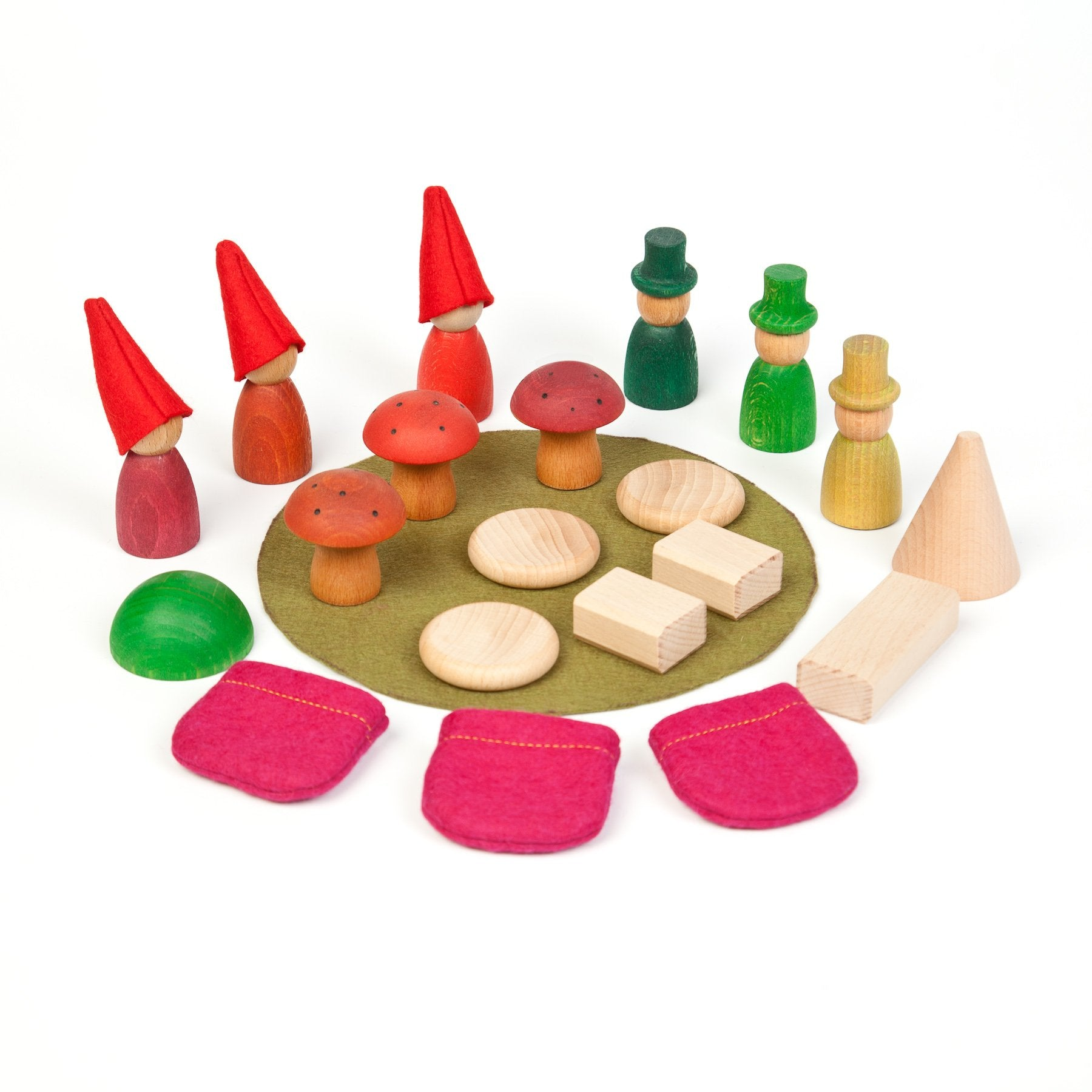 Grapat Wooden Nins Forest Small World Set Grapat Activity Toys at Little Earth Nest Eco Shop