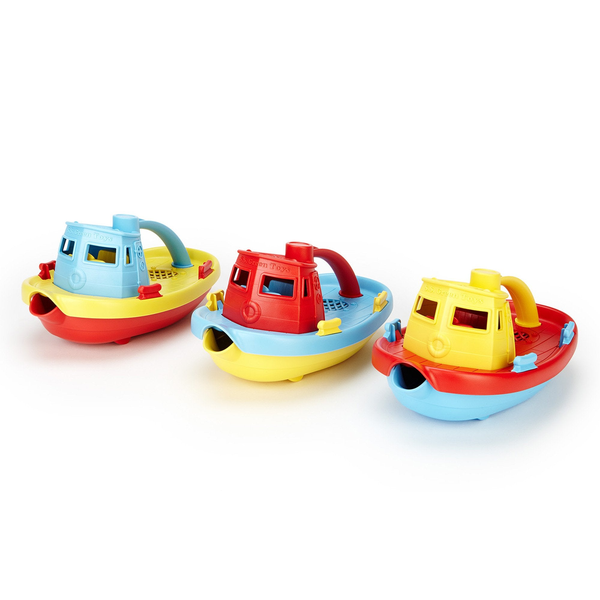 Green Toys Tugboat Green Toys Bath Toys at Little Earth Nest Eco Shop