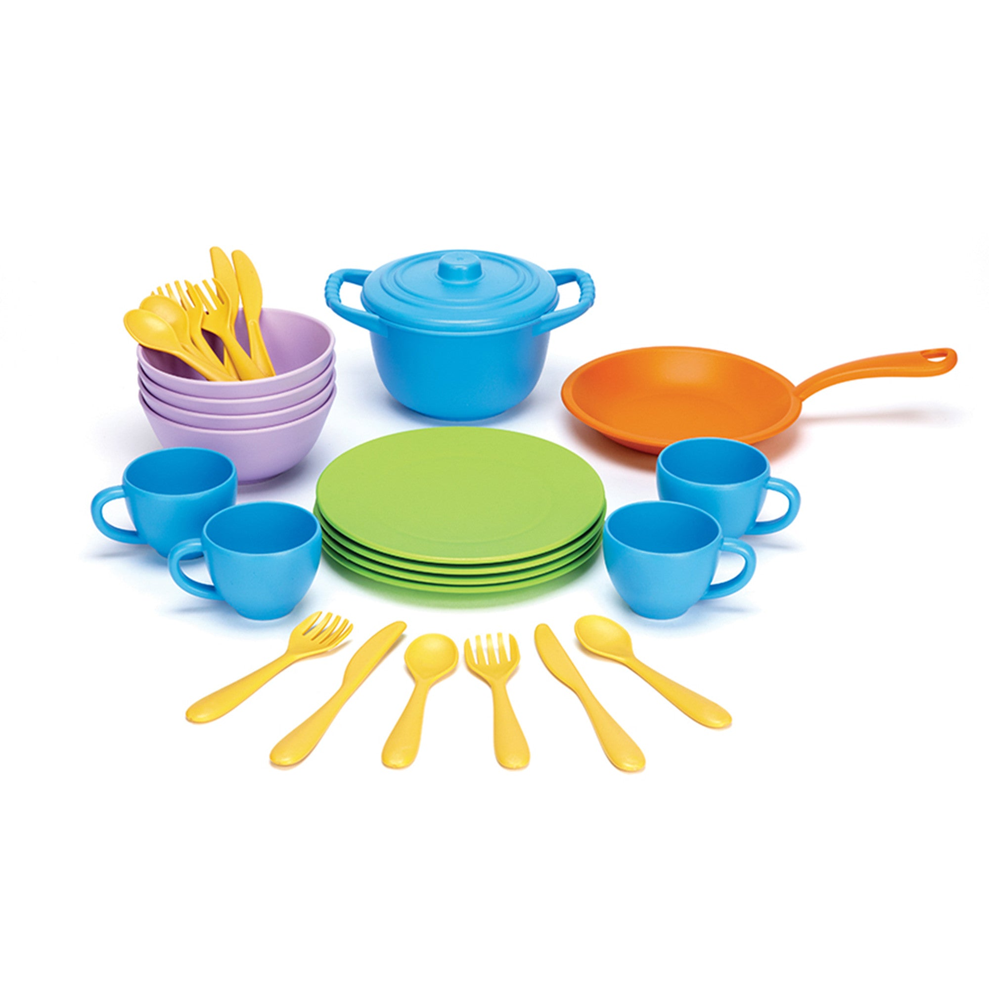 Green Toys Cookware & Dining Set Green Toys Pretend Play at Little Earth Nest Eco Shop