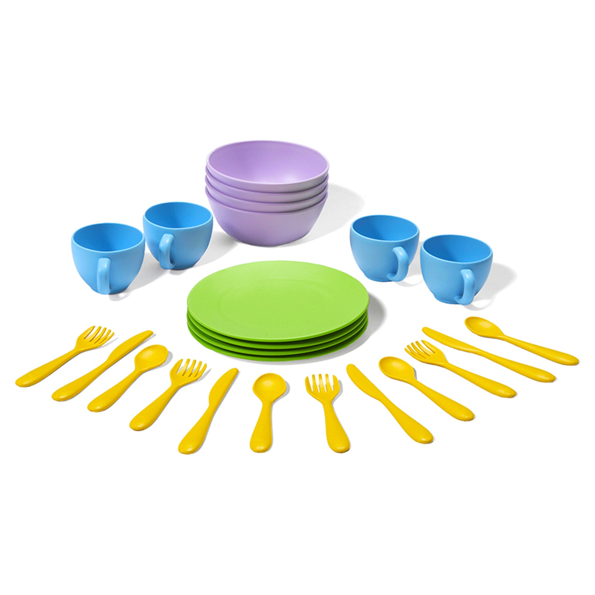 Green Toys Dish Set Green Toys Pretend Play at Little Earth Nest Eco Shop