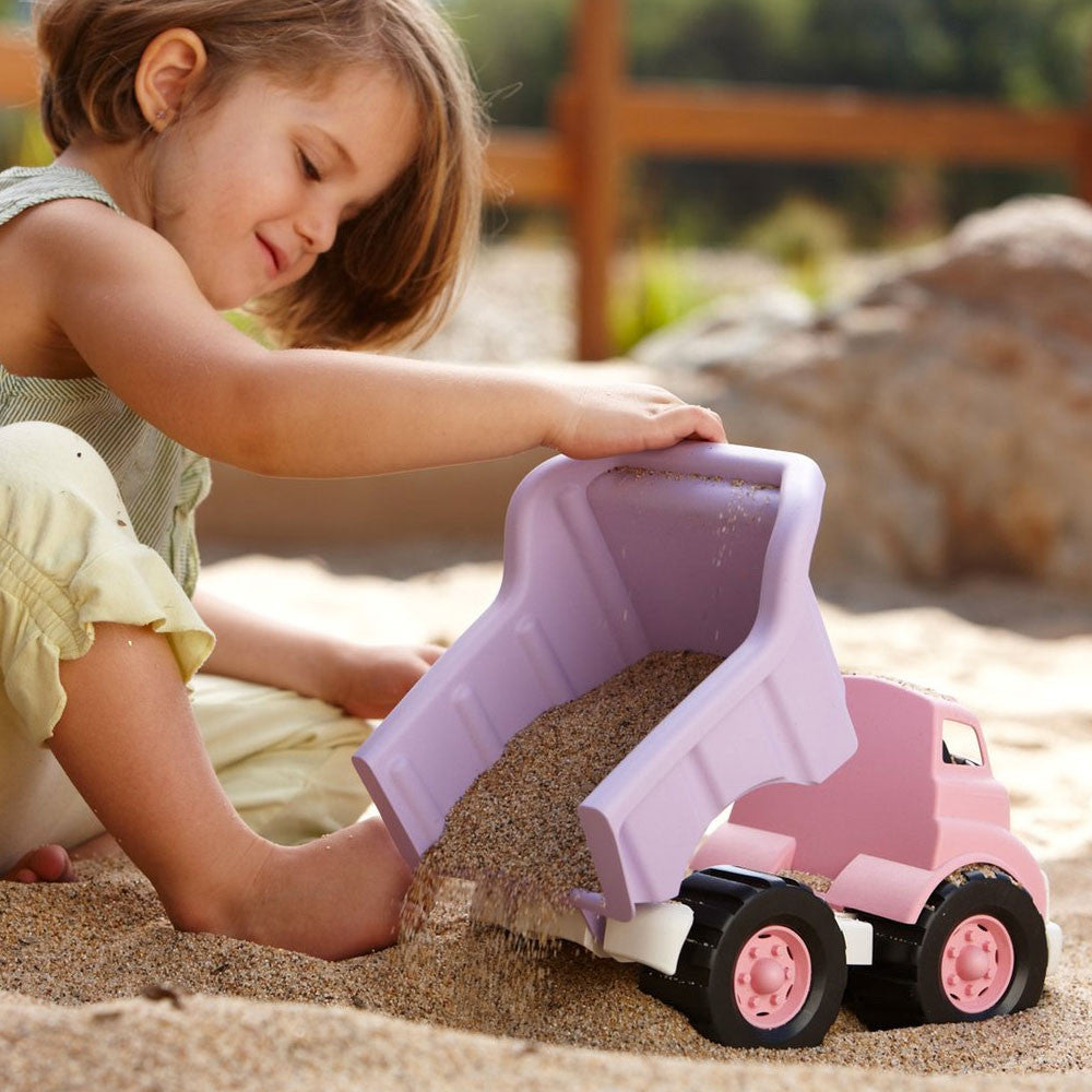 Green Toys Dump Truck Green Toys Play Vehicles Pink/Purple at Little Earth Nest Eco Shop