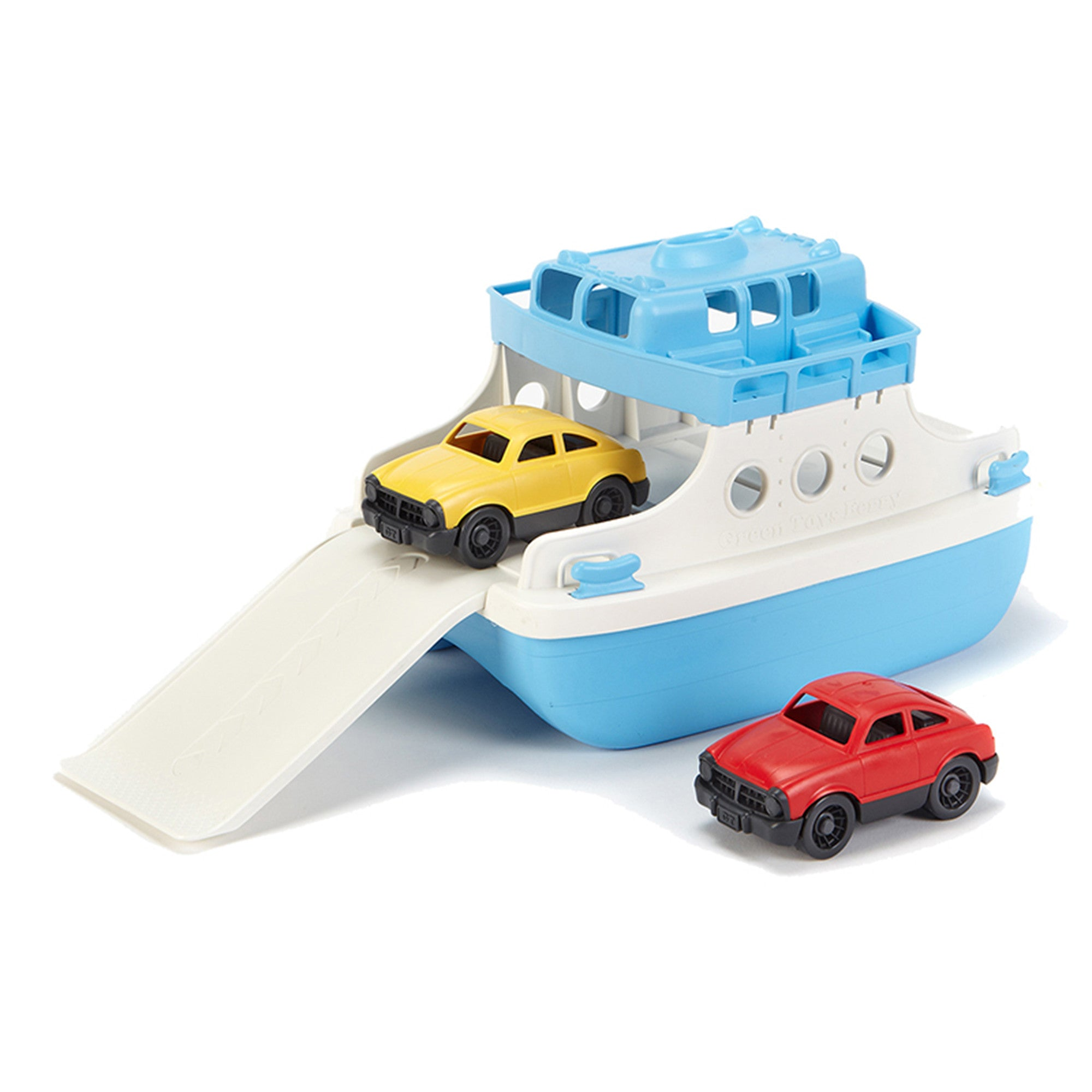 Green Toys - Ferry Boat with 2 Mini Cars Green Toys Play Vehicles at Little Earth Nest Eco Shop