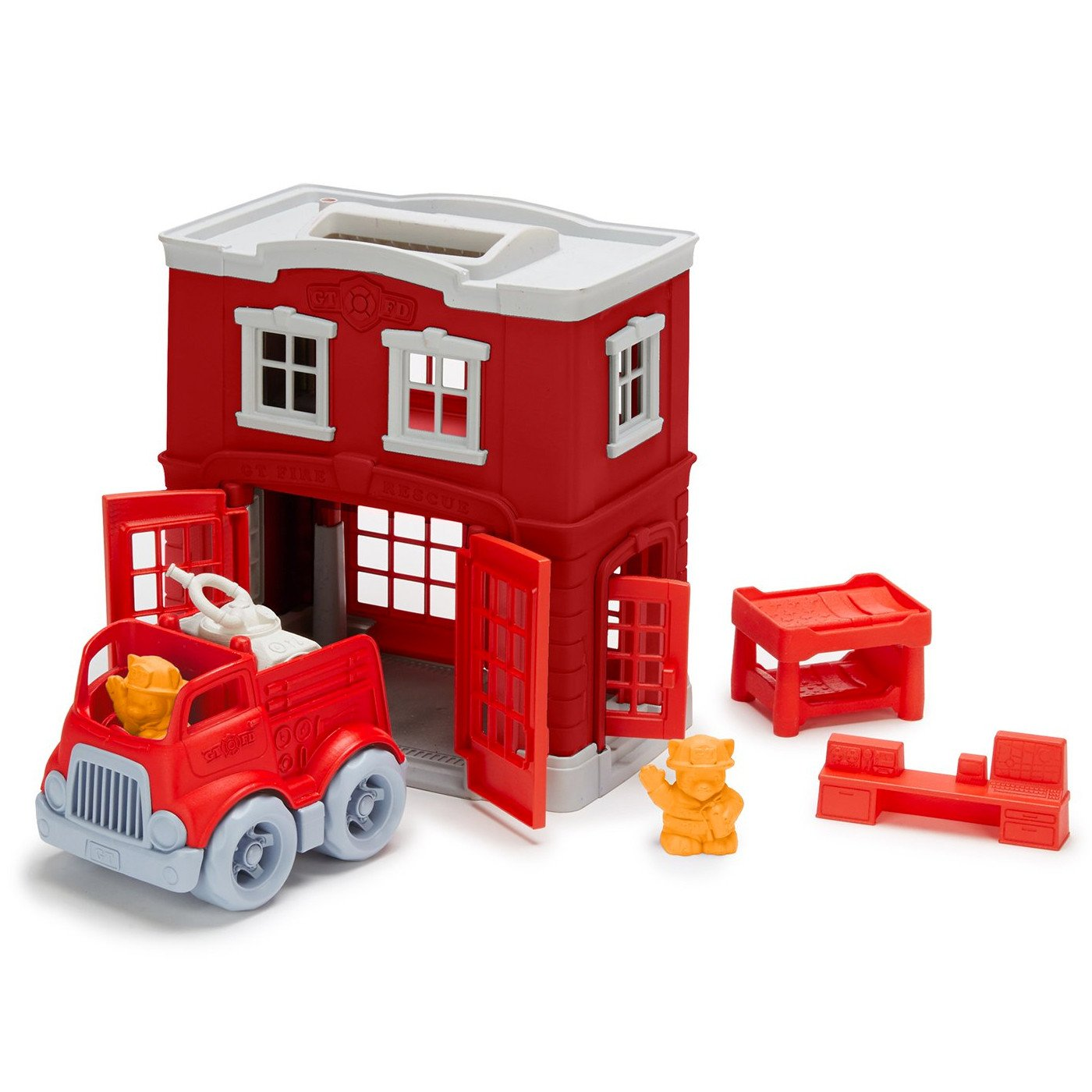 Green Toys Fire Station Play Set Green Toys Activity Toys Fire Station at Little Earth Nest Eco Shop