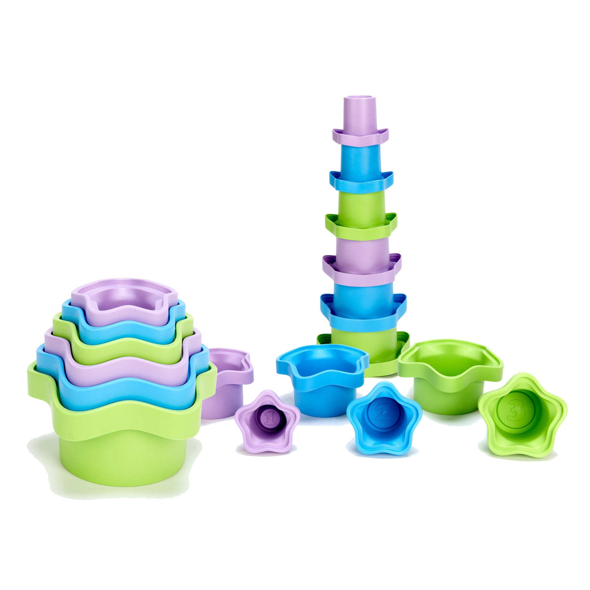 Green Toys Stacking Cups   - Green Toys - Little Earth Nest