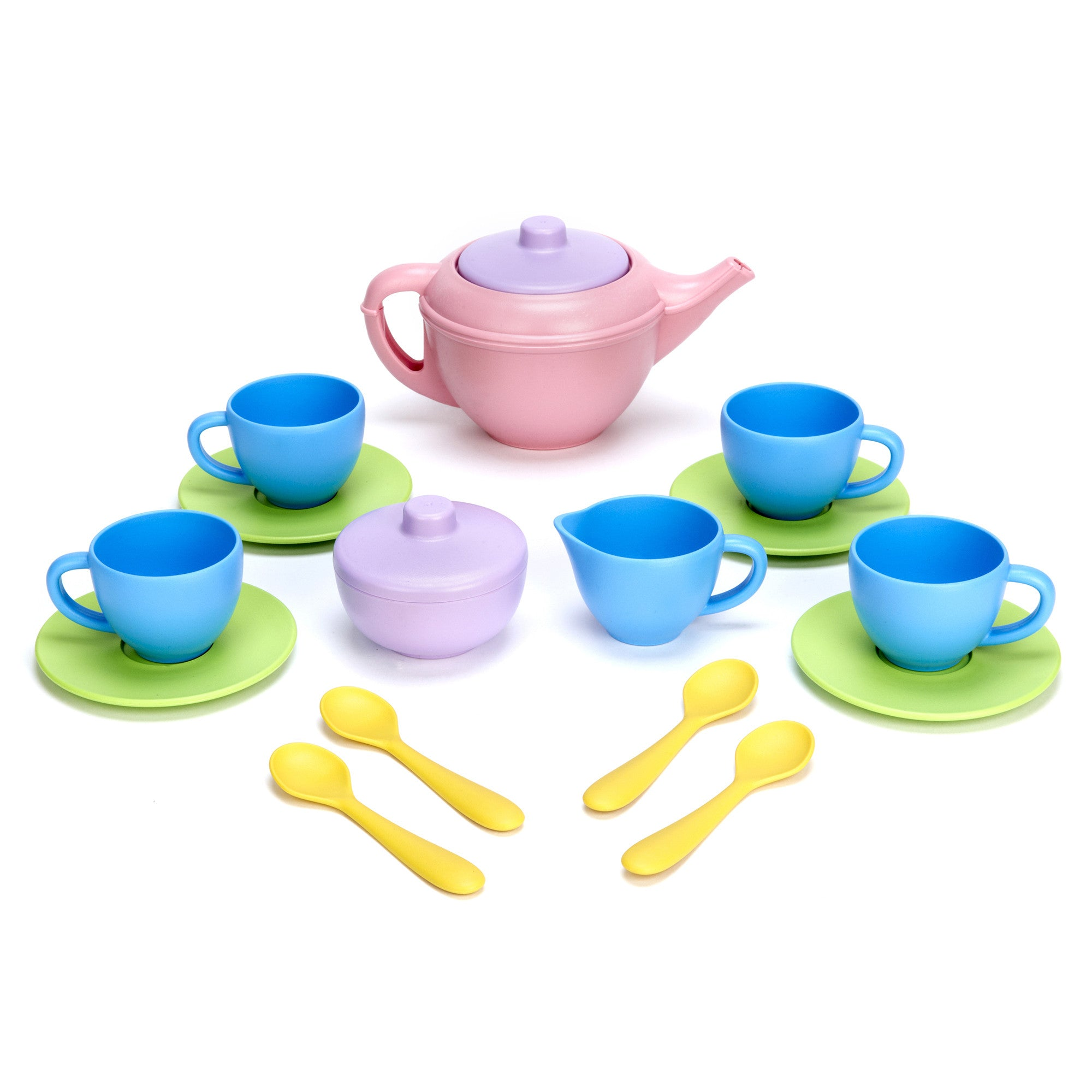 Green Toys Tea Set 15 PC Green Toys Pretend Play at Little Earth Nest Eco Shop