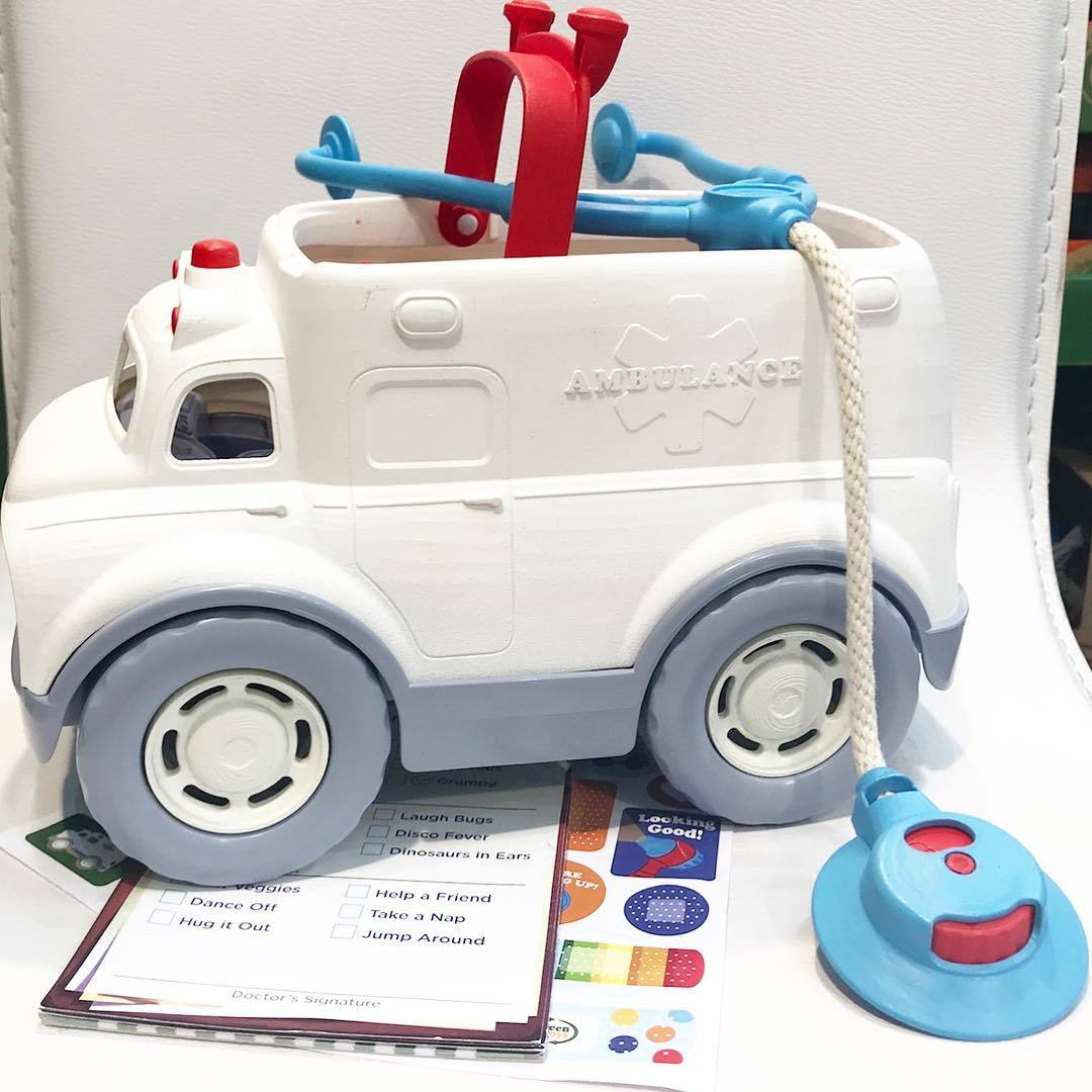 Green Toys Ambulance and Doctors Kit Green Toys Push and Pull Toys at Little Earth Nest Eco Shop