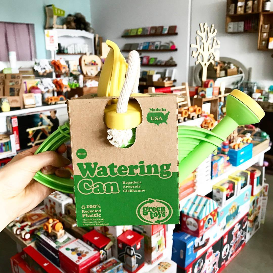 Green Toys Watering Can Green Toys Toys at Little Earth Nest Eco Shop