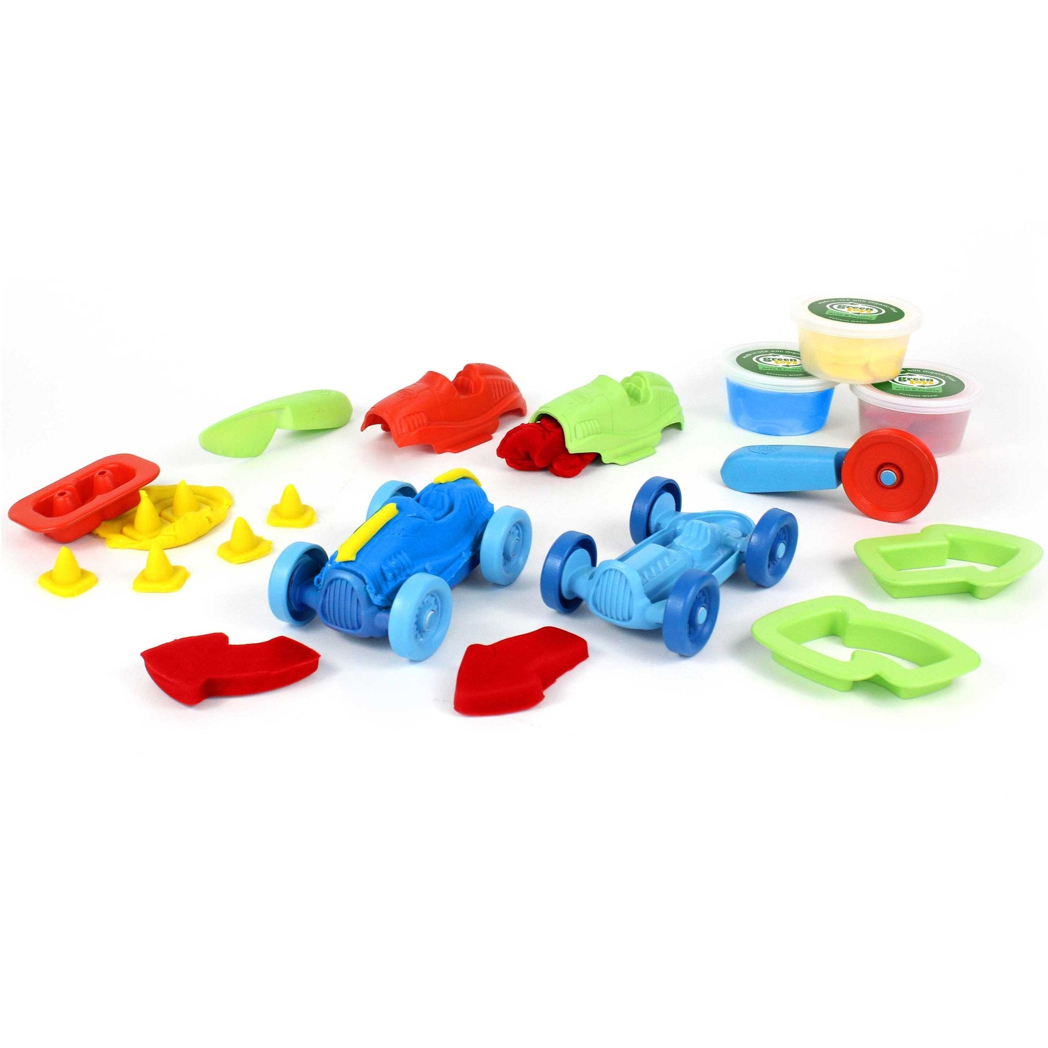 Green Toys Race Car Maker Dough Set Green Toys Activity Toys at Little Earth Nest Eco Shop