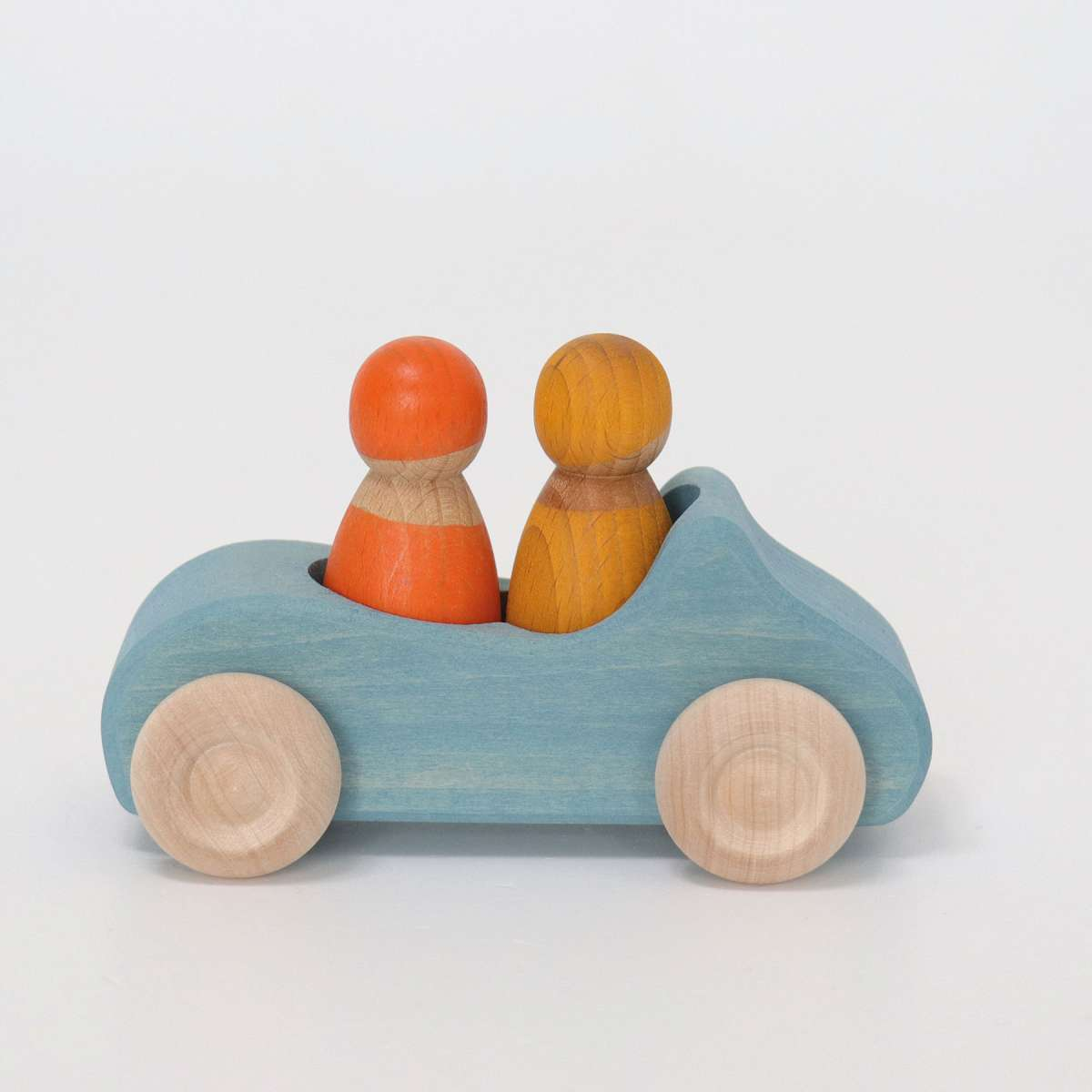 Grimms Large Blue Convertible Car Grimms Wooden Toys at Little Earth Nest Eco Shop