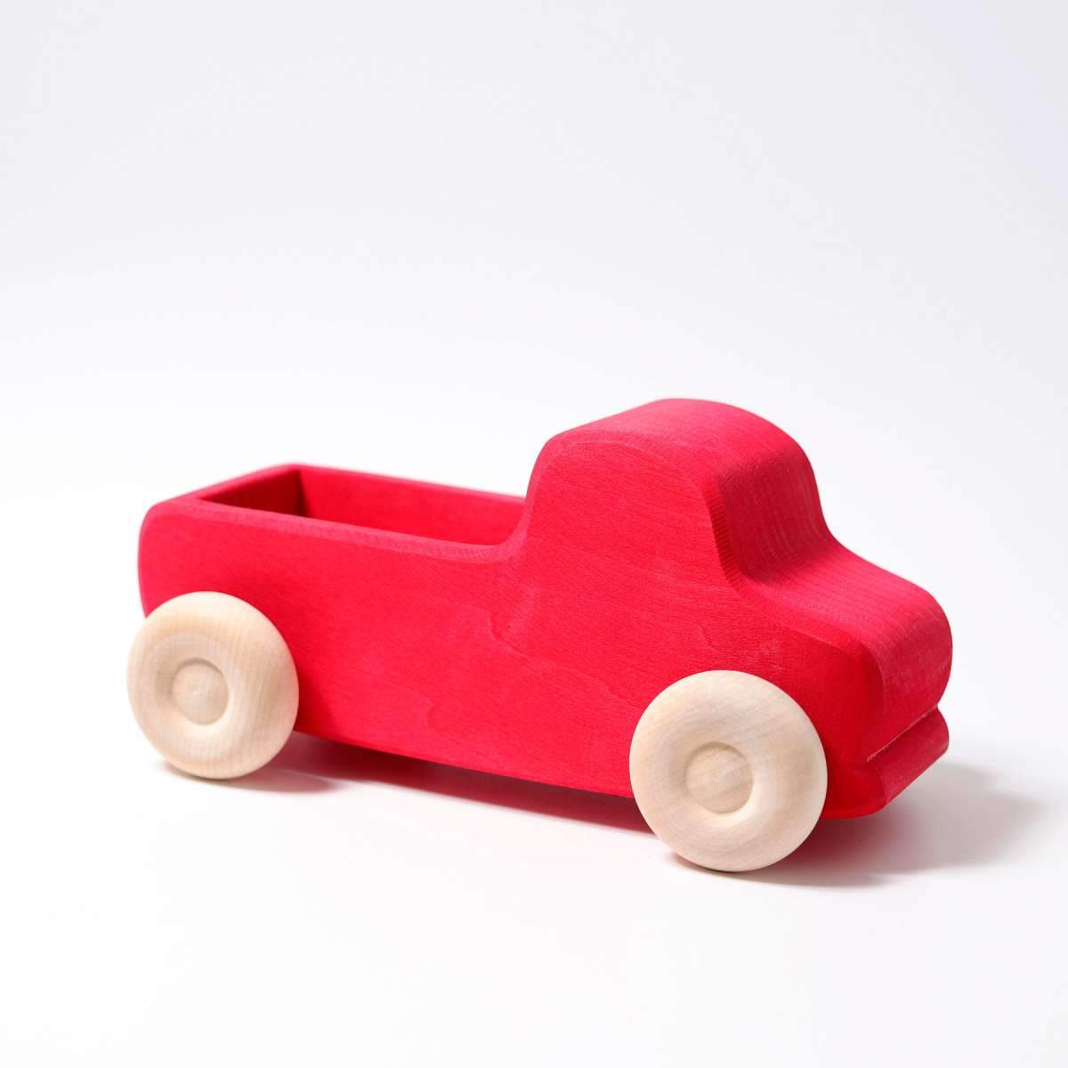 Grimms Large Red Truck Grimms Wooden Toys at Little Earth Nest Eco Shop