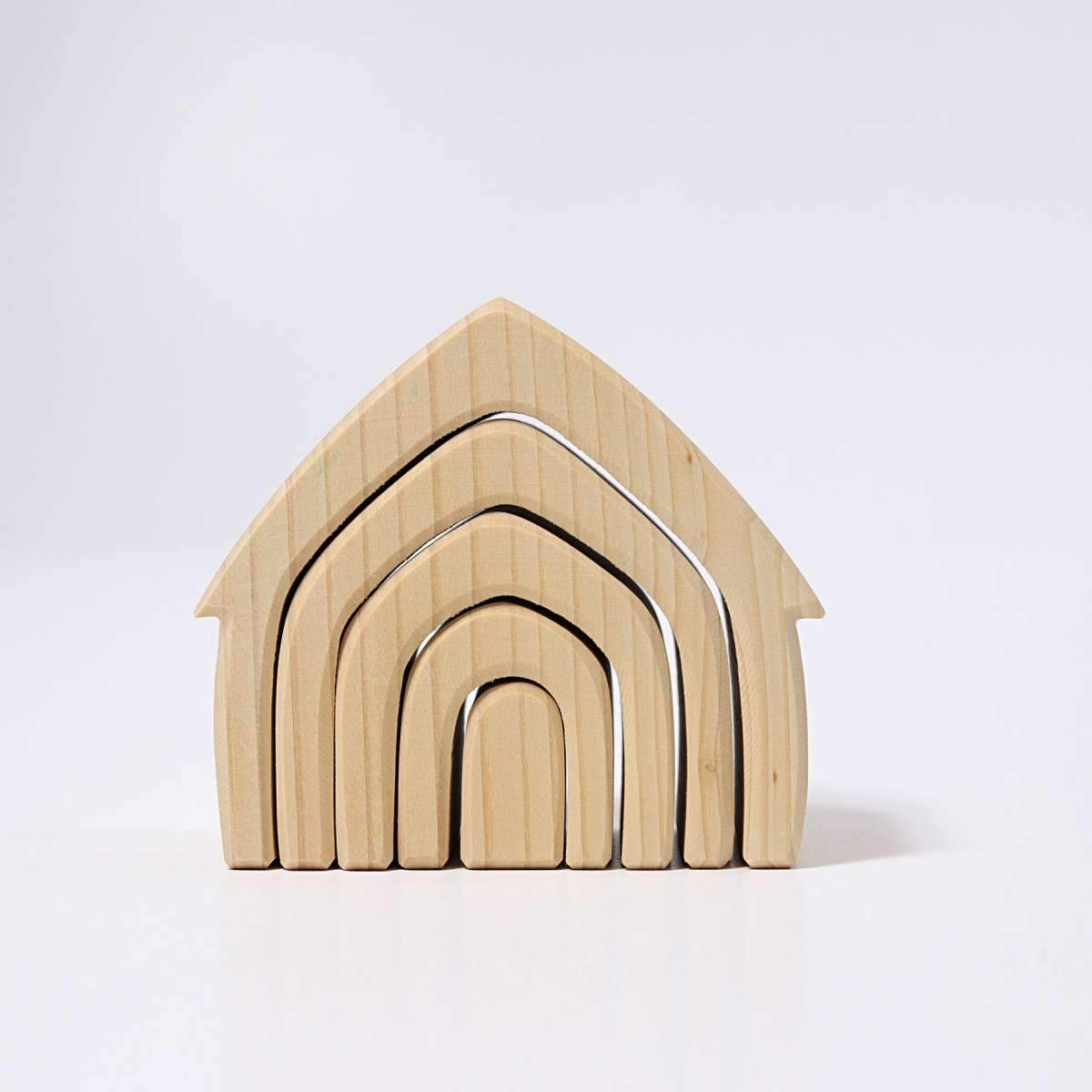 Grimms Natural Stacking House Grimms Wooden Toys at Little Earth Nest Eco Shop
