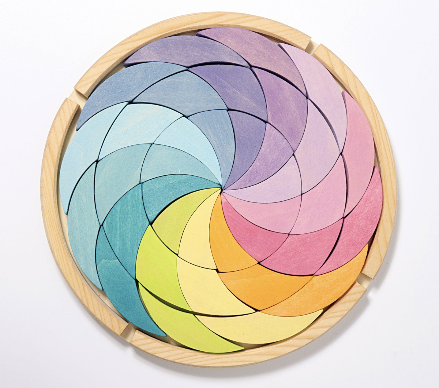 Grimms Building Set Colour Wheel Pastel Grimms Puzzles at Little Earth Nest Eco Shop