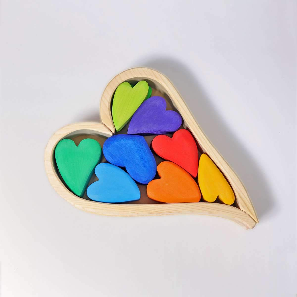 Grimms Rainbow Hearts Grimms Wooden Toys at Little Earth Nest Eco Shop