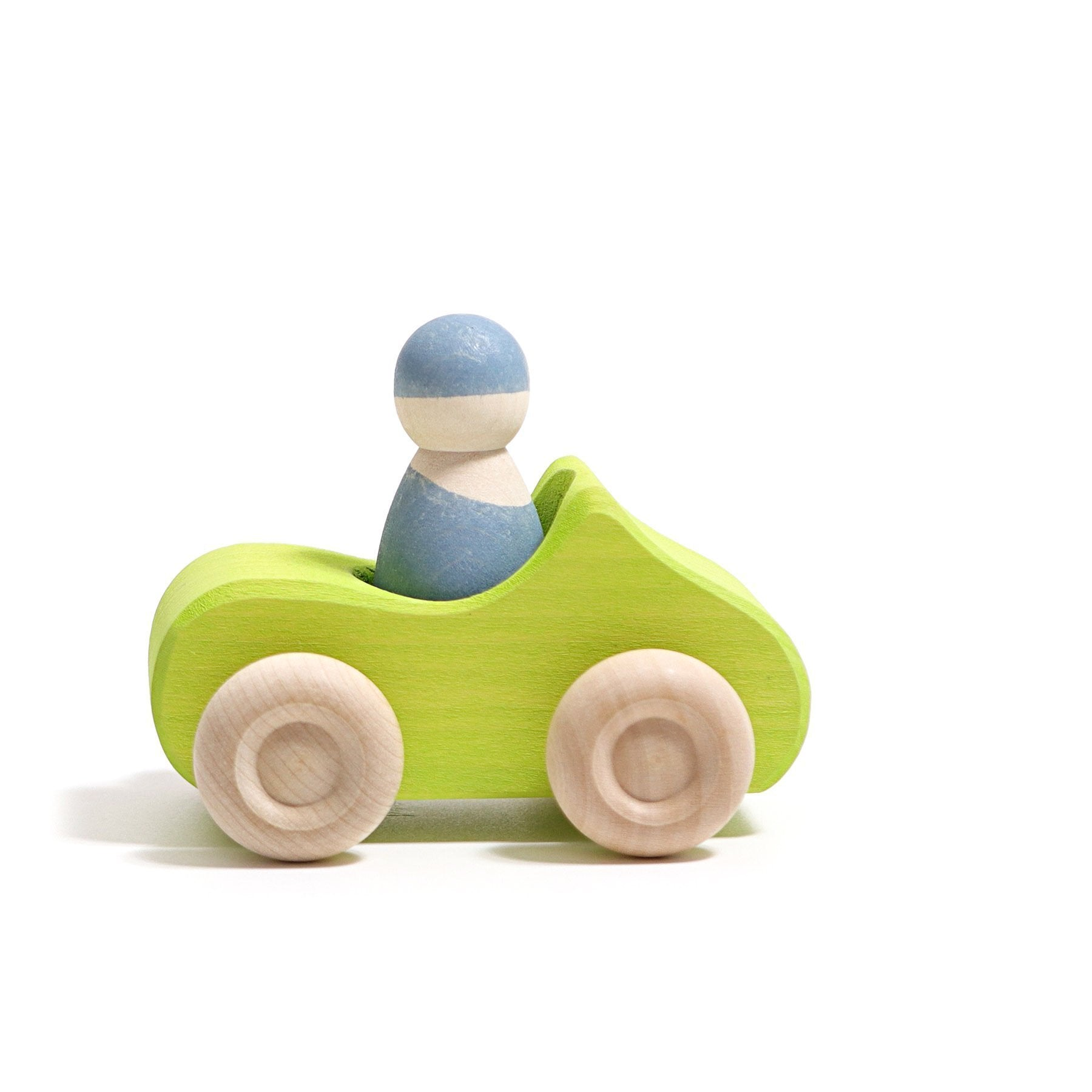 Grimms Small Green Convertible Car Grimms Wooden Toys at Little Earth Nest Eco Shop