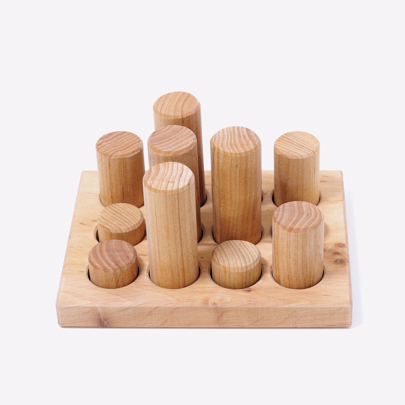 Grimms Stacking Game Small Natural Roller Grimms puzzle at Little Earth Nest Eco Shop