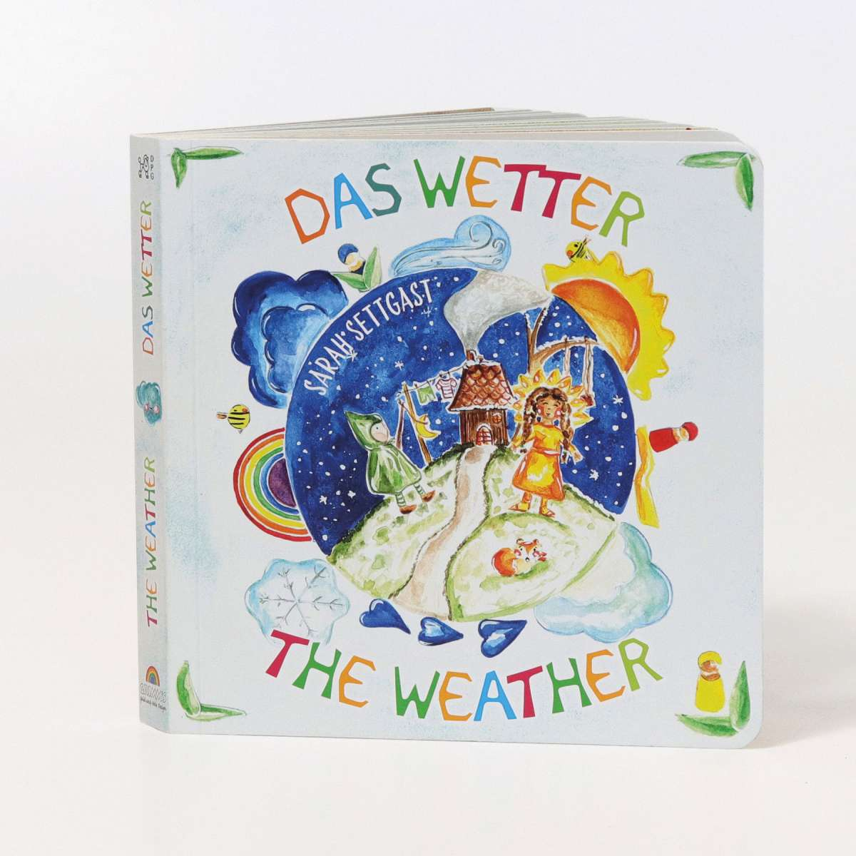 Grimms The Weather Board Book Grimms Wooden Toys at Little Earth Nest Eco Shop